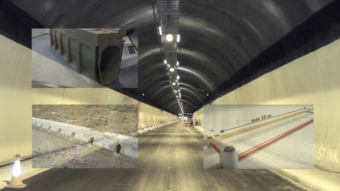 Well designed space saving tunnel drainage