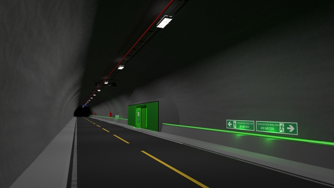Rescue-rooms in road tunnels